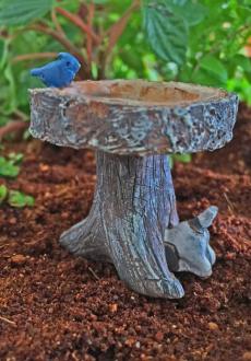 Digging Dog Birdbath
