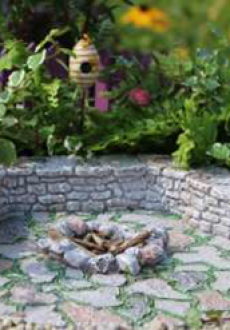 Stone Fire Pit Pad