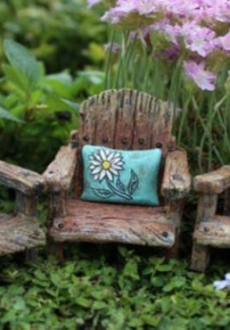 Fairy Chair with Flower Pillow